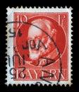 Stamp of Bavaria, Ludwig III, King of Bavaria Royalty Free Stock Photo