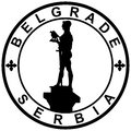 Stamp belgrade serbia illustration of a symbol of and Royalty Free Stock Images