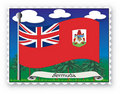 Stamp Bermuda Stock Photography