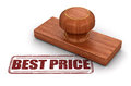 Stamp Best Price Royalty Free Stock Photo