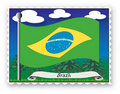 Stamp Brazil Royalty Free Stock Photo