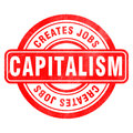 Stamp of Capitalism Stock Image
