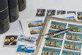 Stamp collecting Royalty Free Stock Photo