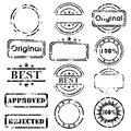 Stamp collection grunge black isolated Royalty Free Stock Photos