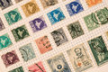 Stamp collection vintage of indian stamps Royalty Free Stock Image
