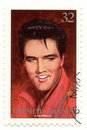 Stamp with Elvis Presley Stock Photography