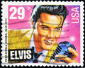 Stamp with Elvis Presley Royalty Free Stock Photo