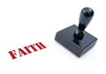 Stamp of faith Royalty Free Stock Photo
