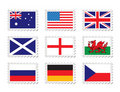 Stamp flag Stock Images