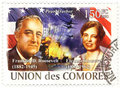Stamp with Franklin Roosevelt Royalty Free Stock Photo