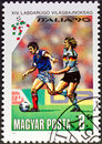 Stamp italia 90 Royalty Free Stock Images