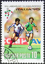 Stamp italia 90 Stock Image