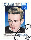 Stamp with James Dean Royalty Free Stock Photo