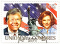 Stamp with  Jimmy Carter Royalty Free Stock Photo