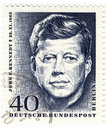Stamp with John Fitzgerald Kennedy Royalty Free Stock Photo