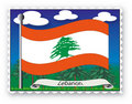 Stamp Lebanon Royalty Free Stock Photography