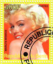 Stamp with Marilyn Monroe Stock Photo