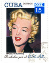 Stamp with Merilyn Monroe Royalty Free Stock Photos