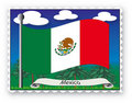 Stamp Mexico Royalty Free Stock Images