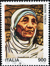 Stamp with Mother Teresa Stock Image