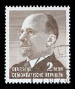 stock image of  Stamp printed in Germany shows the leader of East Germany from 1950 to 1971 Walter Ulbricht