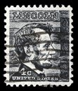 Stamp printed in USA shows President Abraham Lincoln Royalty Free Stock Photo