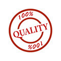Stamp quality 100% Stock Photography