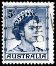Stamp with Queen  Elizabeth II Royalty Free Stock Image