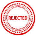 Stamp rejected Royalty Free Stock Photo