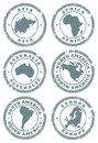 Stamp set Royalty Free Stock Images