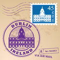 Stamp set with dublin ireland inside Royalty Free Stock Image