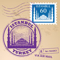 Stamp set istanbul grunge rubber with words turkey inside Royalty Free Stock Image