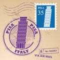 Stamp set pisa with words italy inside Royalty Free Stock Image