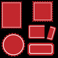 Stamp Set - Red Royalty Free Stock Photo