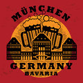 Stamp set with words munchen bavaria germany inside Royalty Free Stock Images