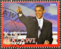 Stamp shows Barack Obama Royalty Free Stock Photo