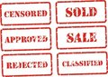 Stamp signs Royalty Free Stock Photo