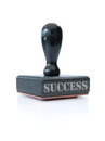 Stamp of success Stock Photos