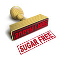Stamp sugar free with red text on white over background Stock Image