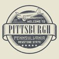Stamp or tag with text Welcome to Pittsburgh, Pennsylvania