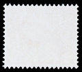 Stamp template blank white postage isolated on black background Royalty Free Stock Photography