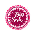 Stamp with text Big Sale written inside. Lettering vector illustration Royalty Free Stock Photo