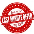 Last minute offer Royalty Free Stock Photo