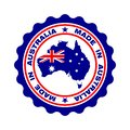 Stamp with text `Made In Australia`