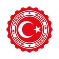 Stamp with text `made in Turkey`