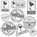 Stamp with Thailand map made in phuket samui bangkok Royalty Free Stock Photo