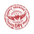 Stamp for Valentine's Day Royalty Free Stock Photography