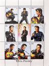 Stamp whith Elvis Presley Royalty Free Stock Photo
