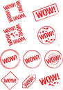 Stamp wow! Stock Photography