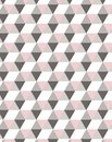Minimal geometric semless pattern in pastel pink tones, ideal for textile deign